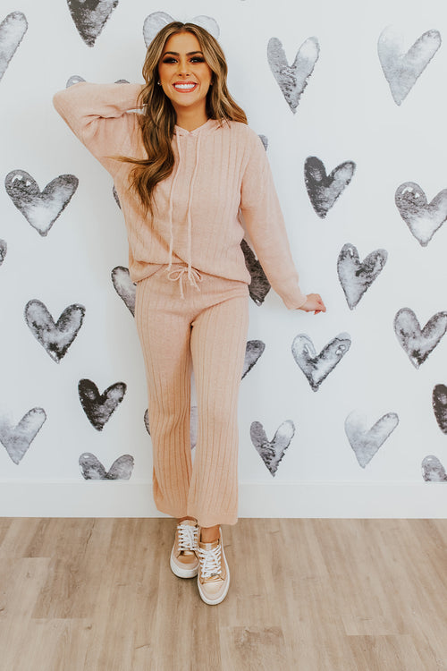 THE NOAH KNIT SWEATER SET IN BLUSH
