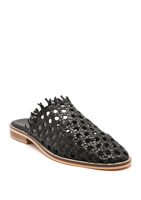 THE FREE PEOPLE MIRAGE WOVEN FLAT IN BLACK