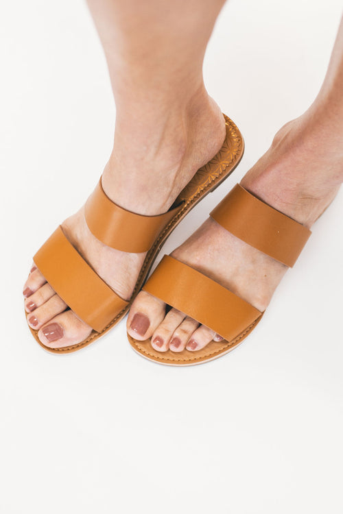 THE ATHENA SLIDE IN CAMEL