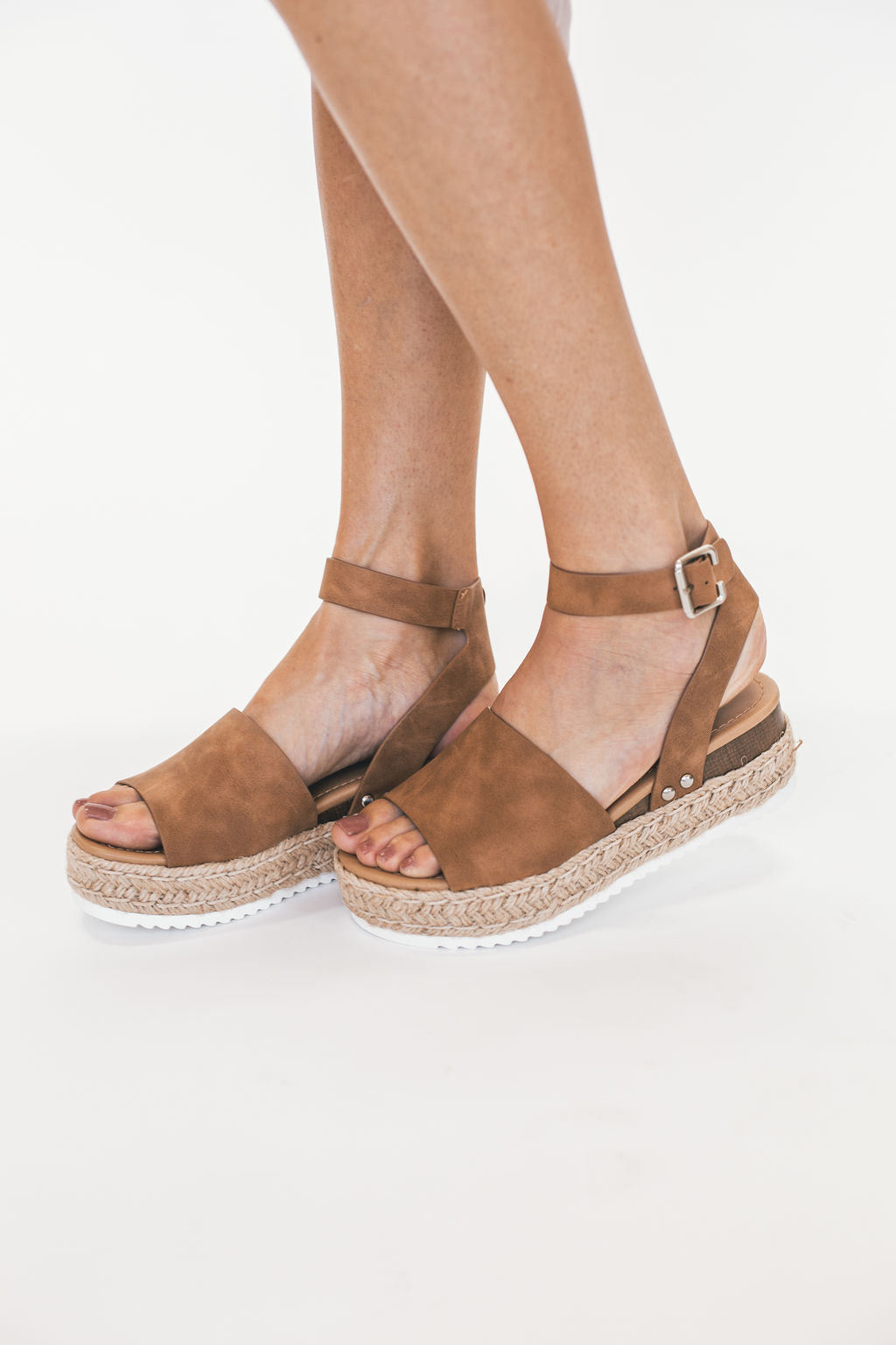 THE CARRIE ESPADRILLE SANDALS IN TAN