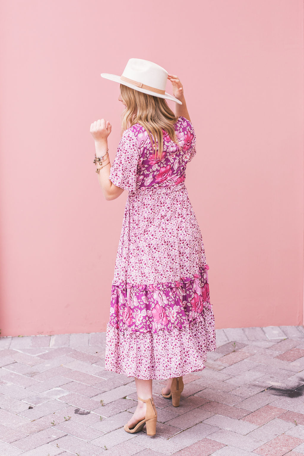THE LEILANI FLORAL MAXI IN LILAC