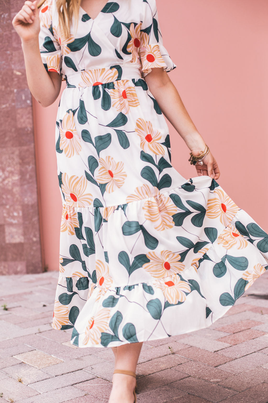 THE KIANA FLORAL MAXI IN WHITE