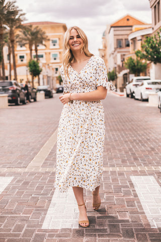 THE BECKETT BUTTON DOWN DRESS IN WHITE