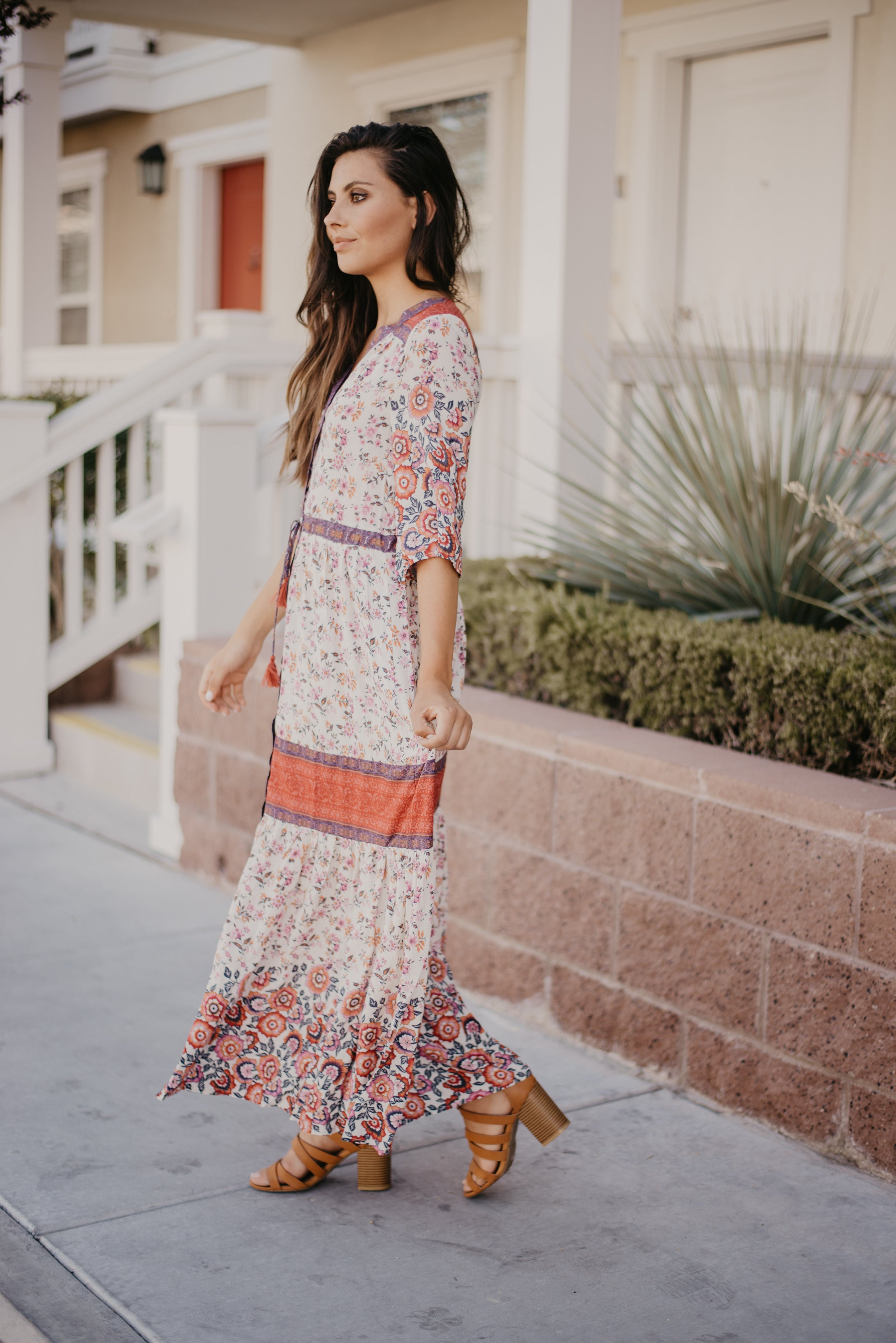 THE FESTIVAL FLORAL MAXI IN IVORY