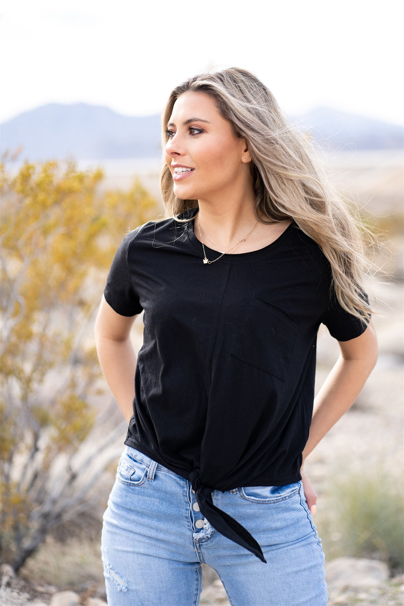THE MADDIE TOP IN BLACK