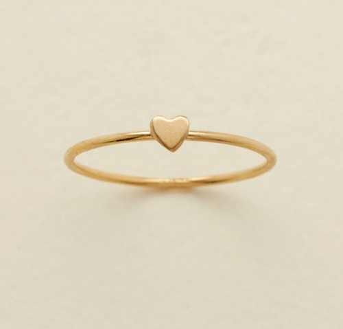 HEART STACKING RING - GOLD FILLED - MADE BY MARY