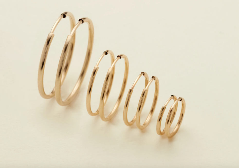 LIVE IN HOOP EARRINGS - GOLD FILLED - MADE BY MARY