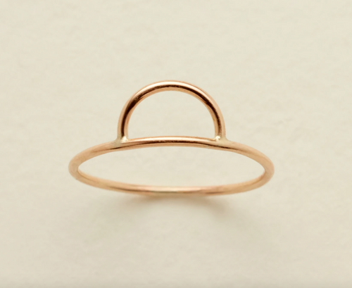 ESTA RING - GOLD FILLED - MADE BY MARY