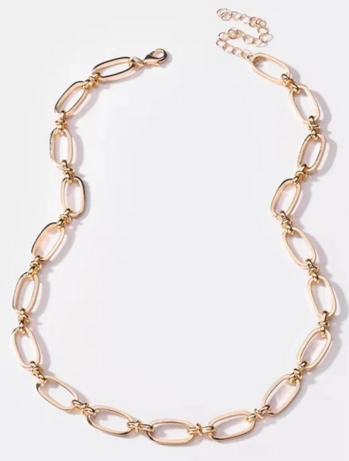 THE CHUNKY CHAIN NECKLACE IN GOLD