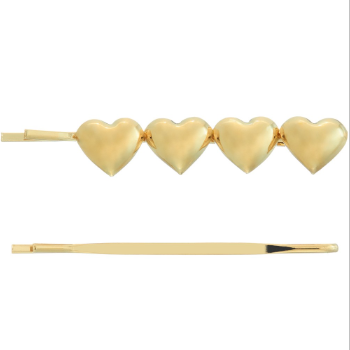 THE HEART BOBBY PIN SET IN GOLD