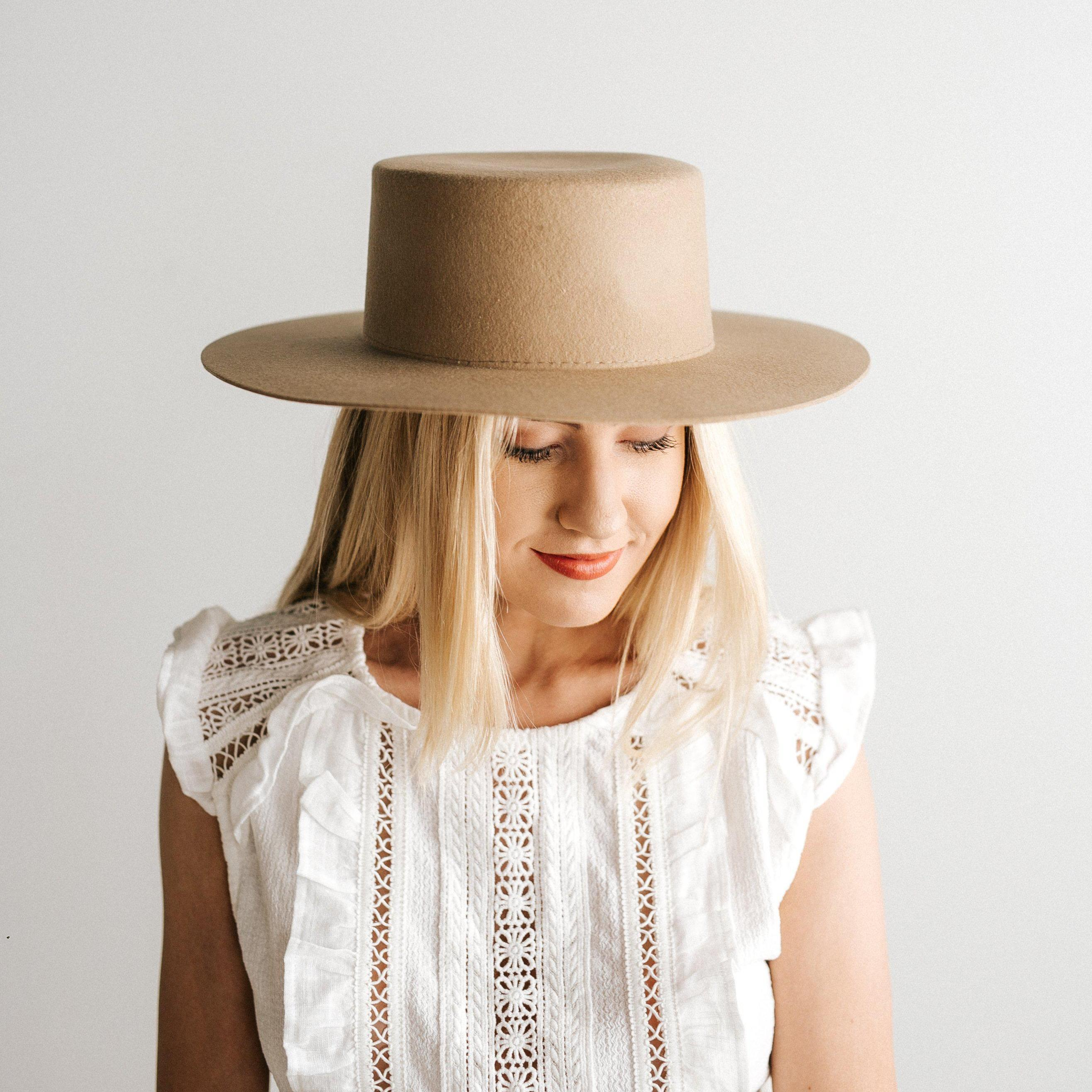 THE DAHLIA TAN - WOMEN'S BOATER HAT - GIGI PIP