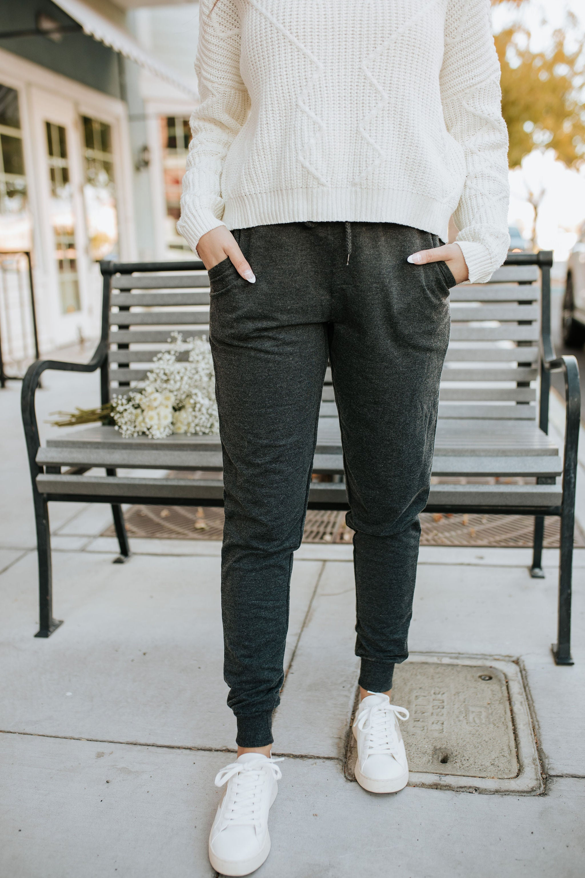 THE CALISTA JOGGER PANTS IN CHARCOAL