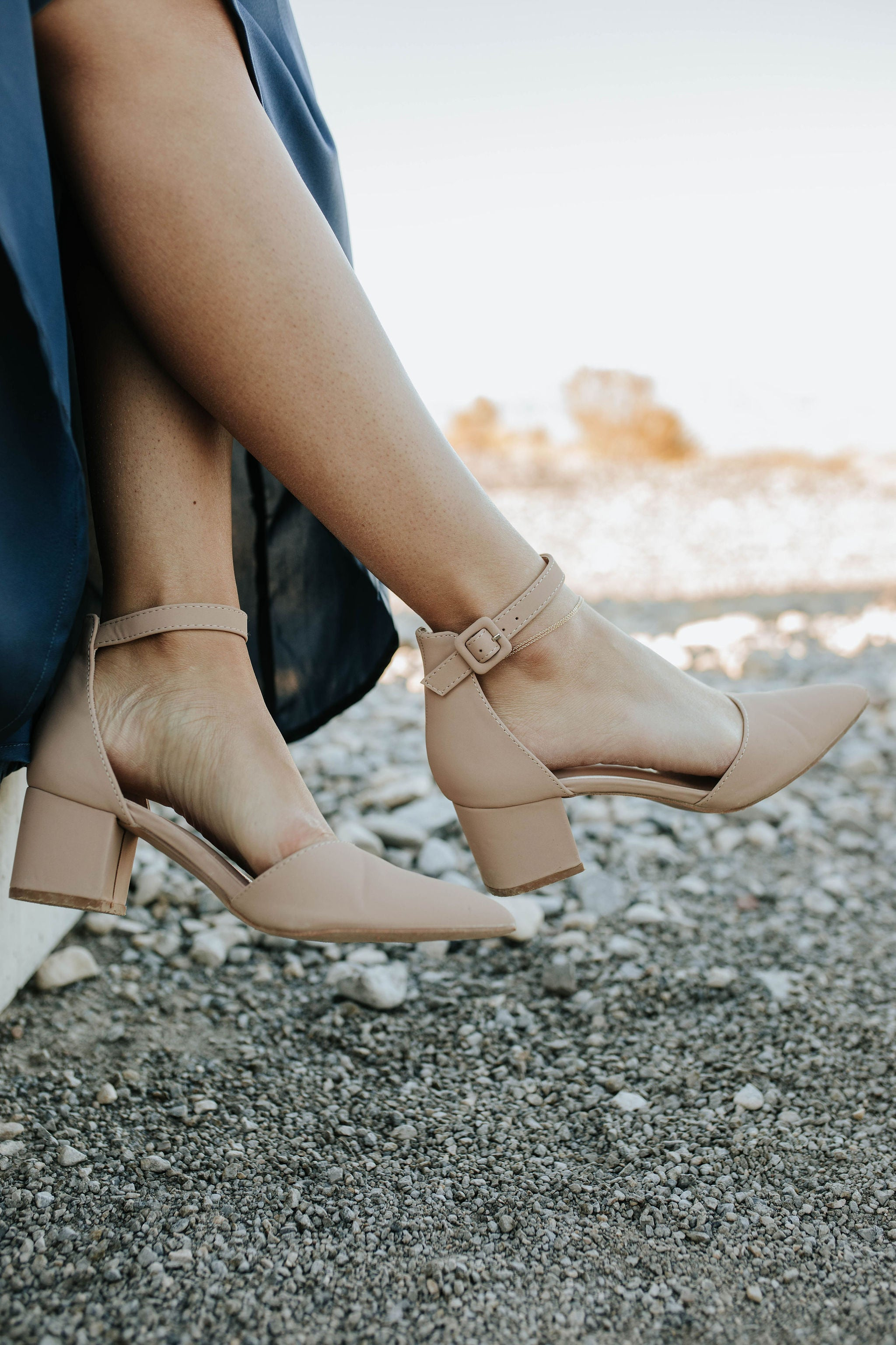THE POPPY POINTED TOE HEEL IN TAUPE