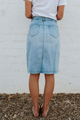 THE DYLAN DENIM BUTTON DOWN SKIRT