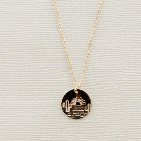THE DESERT SUNSET NEVADA CHARM NECKLACE