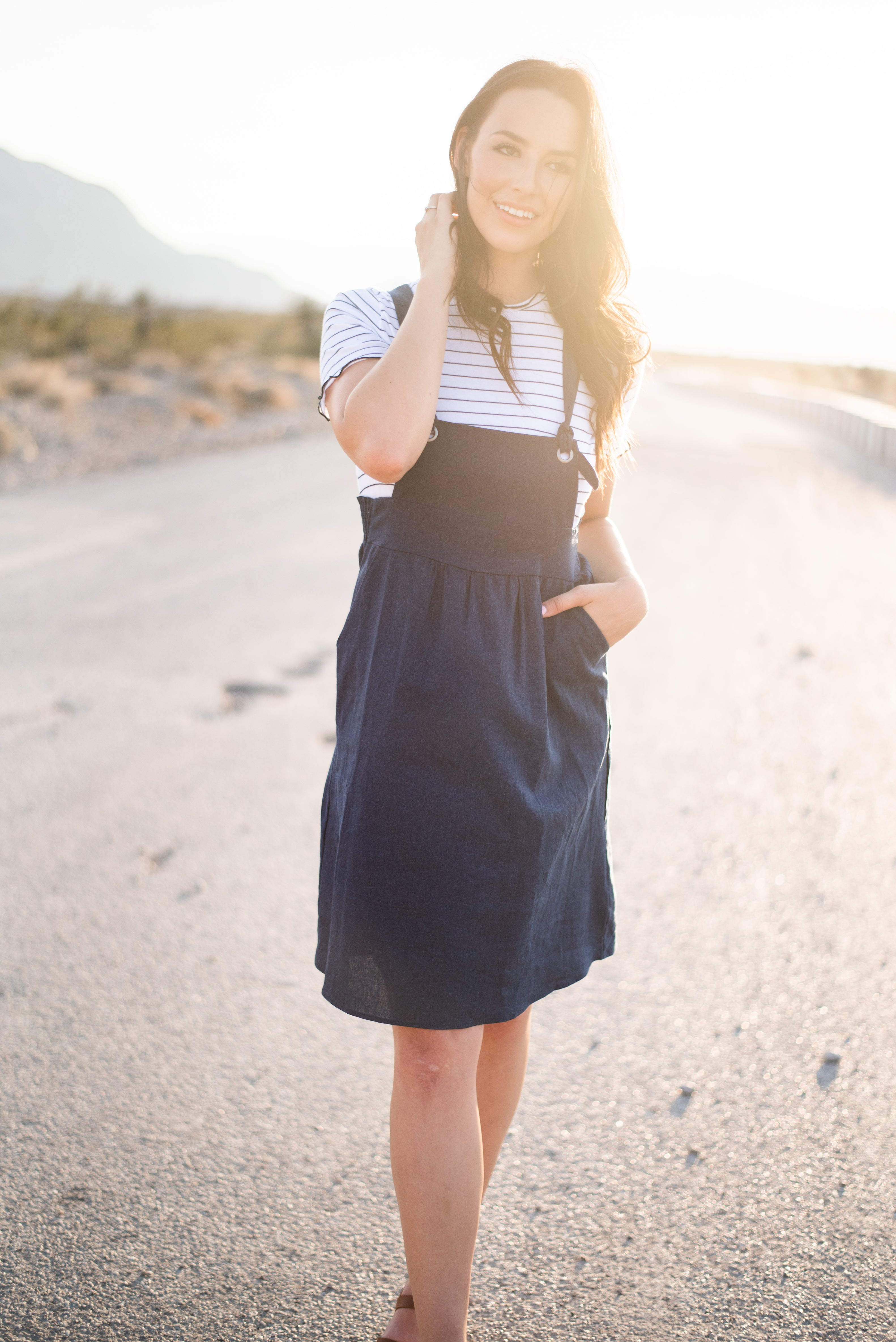 THE TYSON OVERALL DRESS IN NAVY