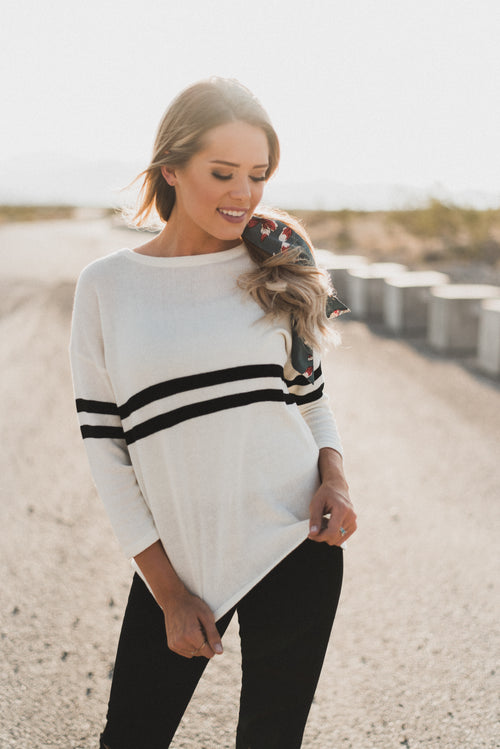 THE SCHOOL GIRL SWEATER IN CREAM