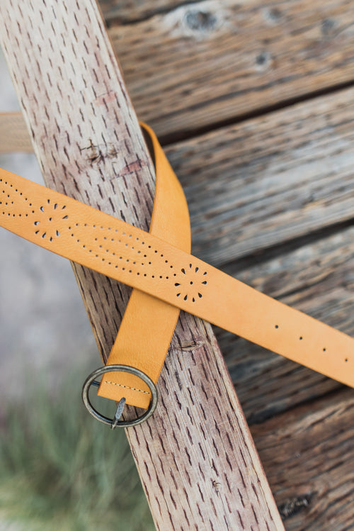 THE LIBBY BELT IN CAMEL