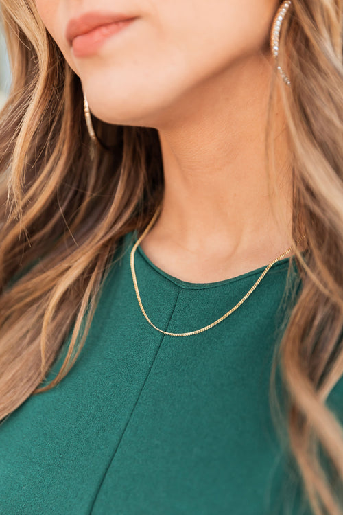 THE SIMPLE CHAIN NECKLACE IN GOLD