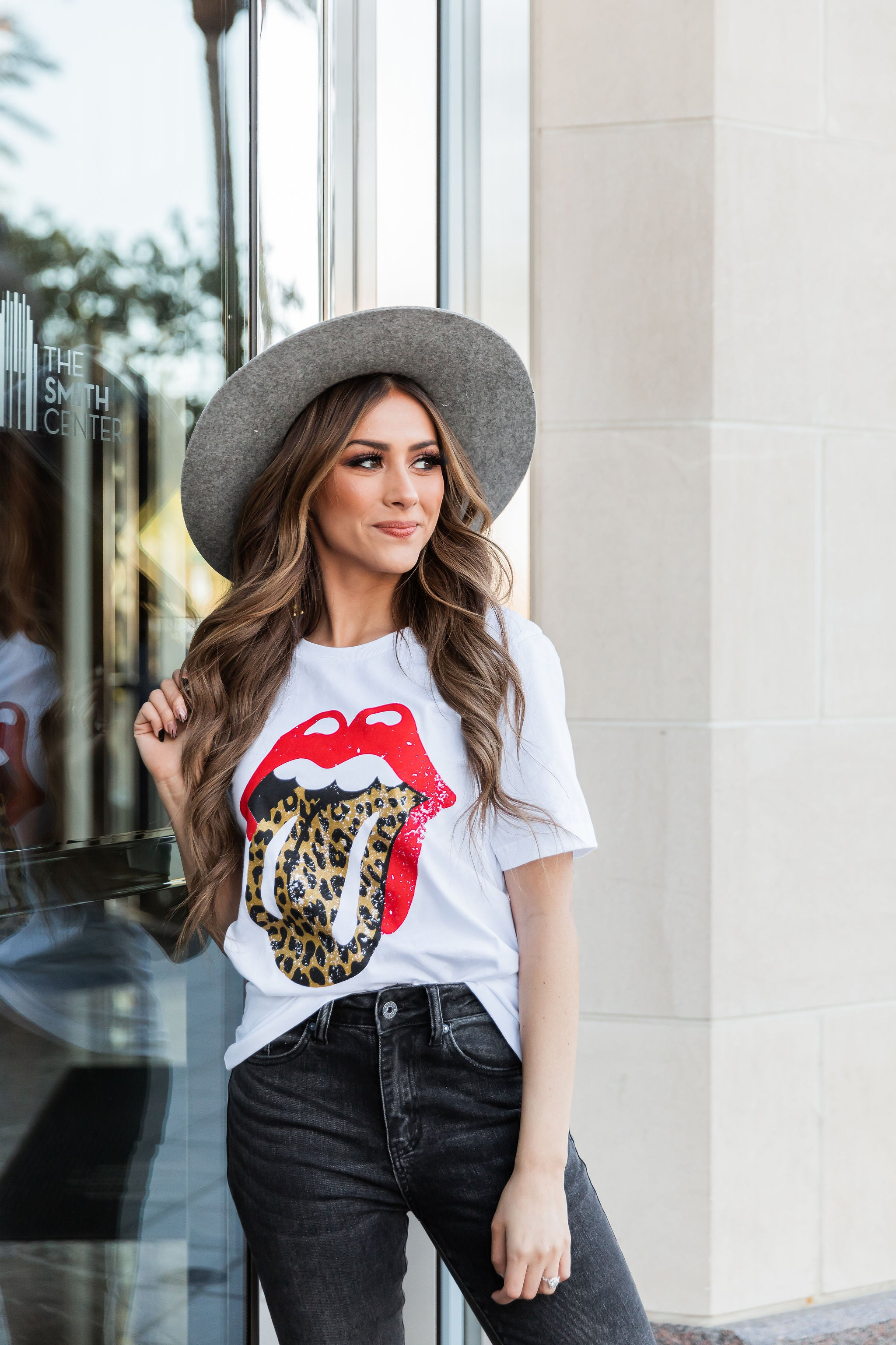THE ROLLING STONES GRAPHIC TEE IN WHITE