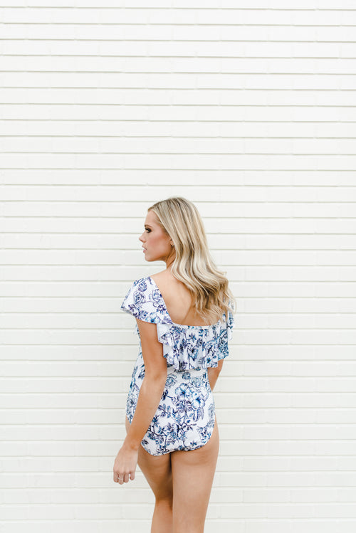THE GARDEN PARTY OFF THE SHOULDER MAILLOT ONE-PIECE