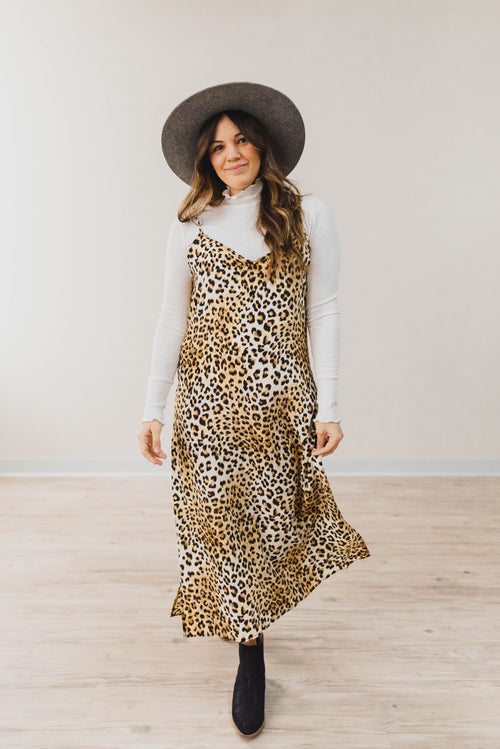 THE GIGI MAXI IN LEOPARD