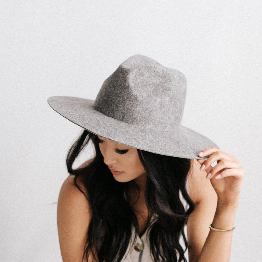 THE SCOTTIE GRAY - STIFF WIDE BRIM HAT - GIGI PIP
