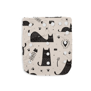 Couche à poche Kawaii bamboo charcoal taille unique - Insertion en bambou