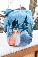 Couche à poche taille unique par Milan & Odile - Fox in the snow PUL