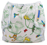 Couvre-couche Air Flow par Mother-ease, Rainforest / Nouveau-né- Le Chaton Vert Couches lavables - 3