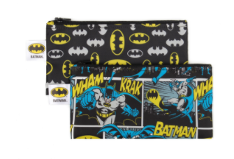 Sacs à collation réutilisables DC Comics par Bumkins - Ensemble de 2