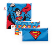 Sacs à collation réutilisables DC Comics par Bumkins - Ensemble de 3