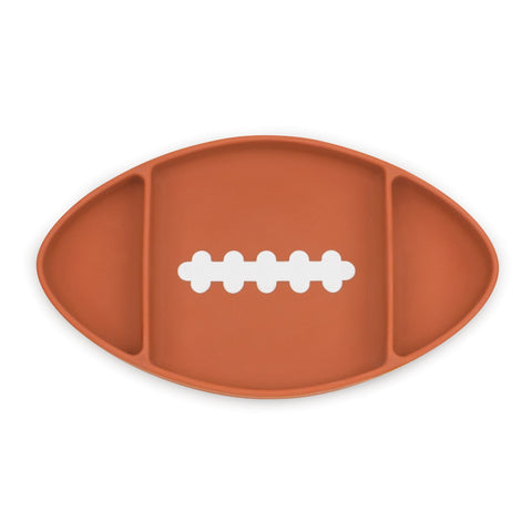 Assiette en silicone à succion par Bumkins - Football