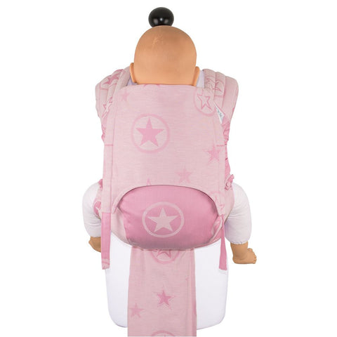 Porte-bébé Fly Tai grandeur bambin (TODDLER) par Fidella  - Outer Space -candy rose