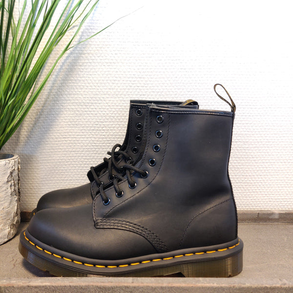 Dr. Martens black greasy