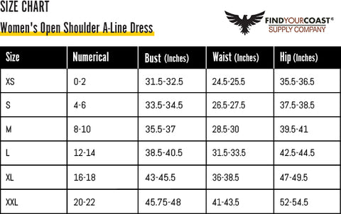 Find Your Coast Sizing