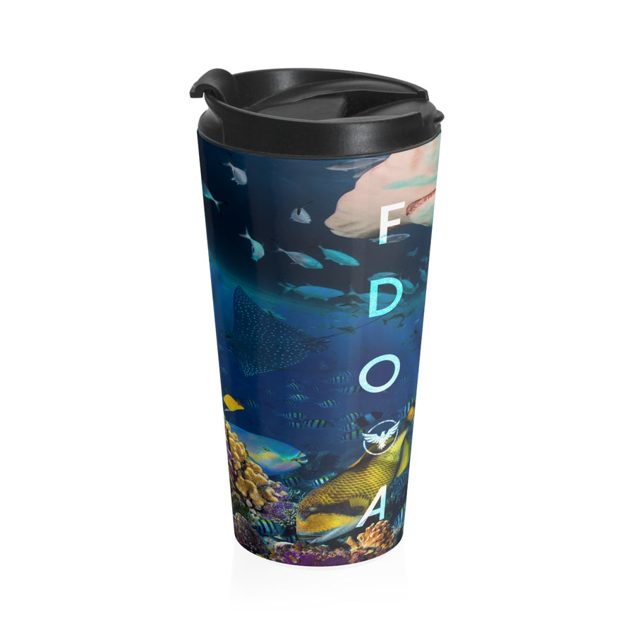 Ocean Life Stainless Steel Travel Mug - Find Your Coast Brand