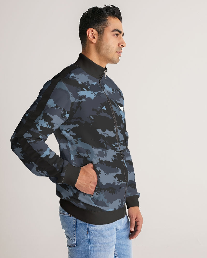 Men's Coast Camo Track Jacket w/Striped-Sleeve - Find Your Coast Supply Co.