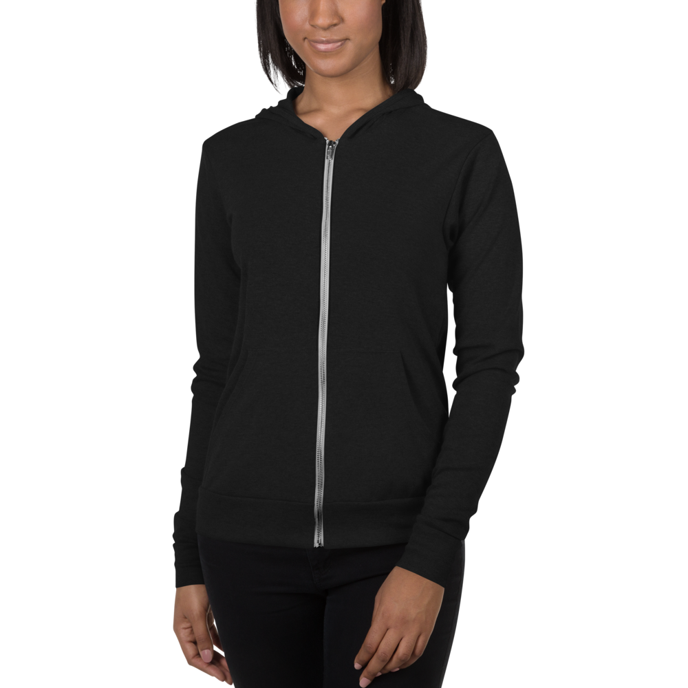 Women's Lightweight Zip Up Rainbow Hoodie w/Kangaroo Pocket