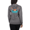 Women's Lightweight Zip Up Coast Vibes Hoodie w/Kangaroo Pocket