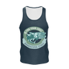 Men's Find Your Coast Sustainable Navy Barracuda Stout Tank Top - Find Your Coast Supply Co.