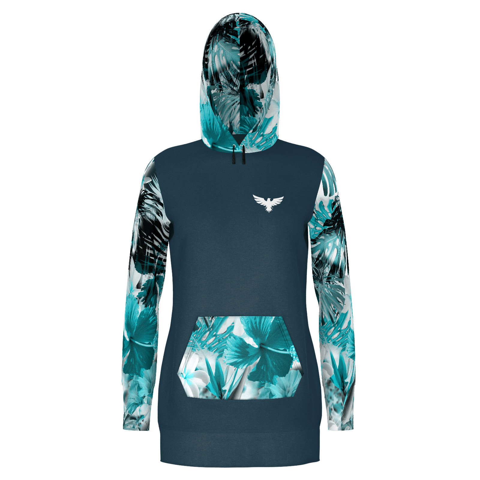 Women's My Sundays Navy Sustainable Pullover Hoodie Dress - Find Your Coast Supply Co.