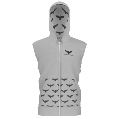 Men's Supply Co. Silver w/Gray Sustainable Lake Tahoe Sleeveless Hoodie - Find Your Coast Supply Co.