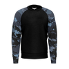 Men's FYC Coast Camo Sleeve Sustainable Raglan Sweatshirt - Find Your Coast Supply Co.
