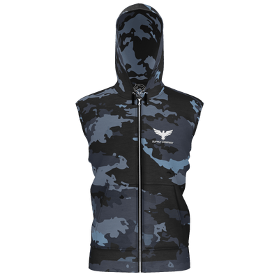 Men's Supply Co. Coast Camo Sustainable Sleeveless Zip-Up Hoodie - Find Your Coast Supply Co.