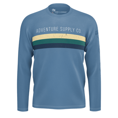 Men's Find Your Coast Adventure Supply Co. Sustainable Long Sleeve Knit Shirt - Find Your Coast Supply Co.