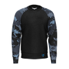 Men's Mountains to Coast Camo Venture Pro Sustainable Raglan Long Sleeve Sweatshirt - Find Your Coast Supply Co.