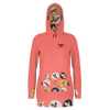 Women's Supply Co. Surfer Girl Long Body Sustainable Pacific Coast Pullover Hoodie Dress - Find Your Coast Supply Co.