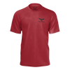 Men's FYC Supply Co. Tripside Red Recycled rPET Knit Tee Shirt - Find Your Coast Supply Co.