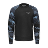 Men's Coast Camo Sustainable Black Long Sleeve Raglan Sweatshirt - Find Your Coast Supply Co.